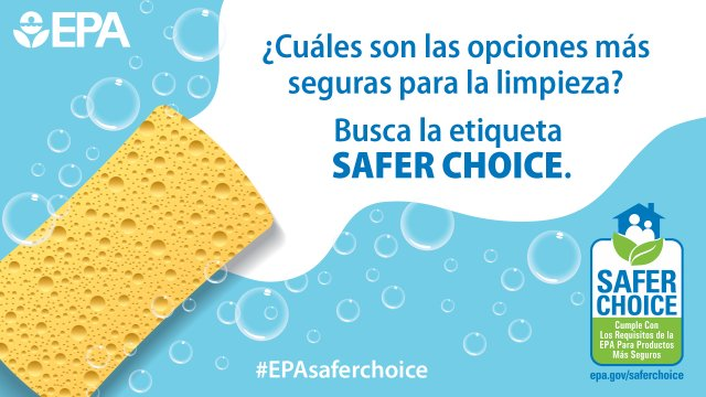 Busca la etiqueta Safer Choice